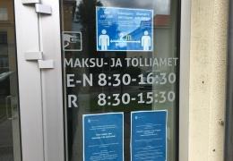 Налогово-таможенный департамент из-за коронавируса закрыл бюро в Йыхви