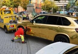 В Германии полицейские продолжают бороться с очень блестящими автомобилями