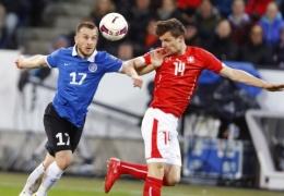 Сборная Эстонии по футболу проиграла команде Швейцарии со счетом 3:0