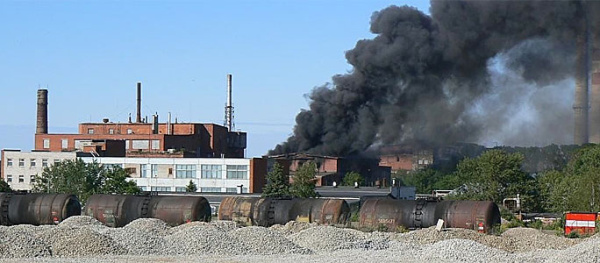 Пожар на силламяэском заводе Molycorp Silmet: пострадали три спасателя