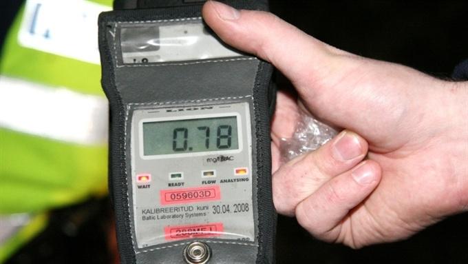 В январе полиция поймала более 300 пьяных водителей за рулем