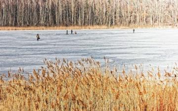 Рыбакам разрешили выходить на лед Нарвского водохранилища