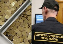 В качестве долга россиянин принес судебным приставам два ящика монет на 22 килограмма