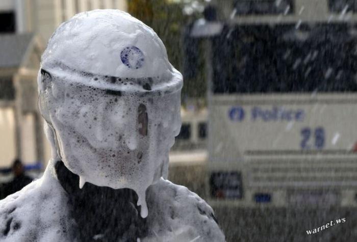 Полицейский протест в Бельгии (11 фото)