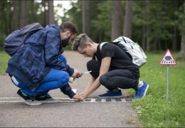 Крошечные дорожные знаки для маленьких жителей Вильнюса