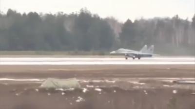 Авария истребителя МиГ-29 в Бобруйске