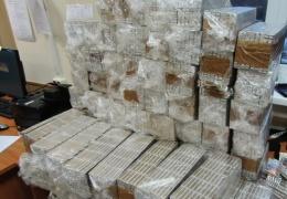 Российская таможня не пустила в Эстонию почти 300 блоков сигарет
