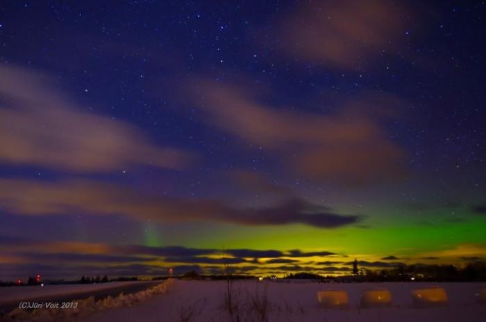 Эстонии можно было наблюдать северное сияние