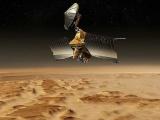 Спутник снял ледяную лавину на Марсе