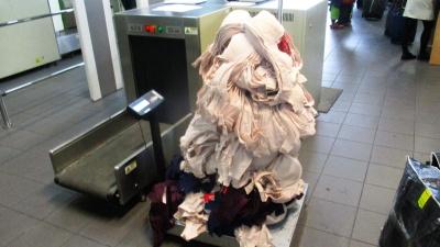 На границе задержали жительницу Нарвы с 24 кг бюстгальтеров