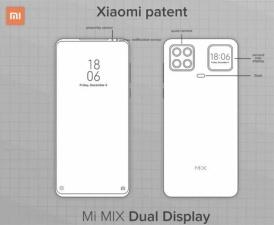 На Meizu похож: Xiaomi показала смартфон с дополнительным дисплеем