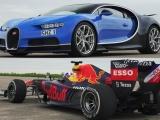 Драг-рейсинг: Bugatti Chiron против болида F1