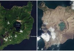 """NASA показало, как """"райский остров"""" на Филиппинах превратился в кучку пепла"""