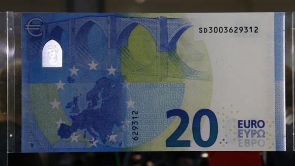 Эстония в конце ноября вводит в оборот новые двадцатиевровые купюры
