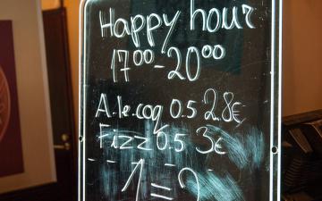 С 1 июня в Эстонии запрещен алкогольный happy hour