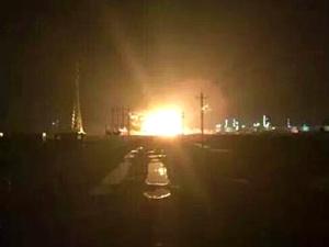 На химическом заводе в китайском городе Дунъин произошел мощный взрыв