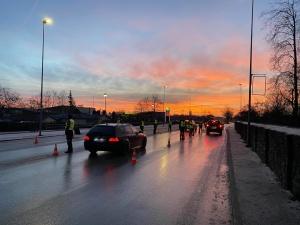 """Рейд """"Дуют все"""" в Йыхви: 5 из 885 водителей были нетрезвыми"""