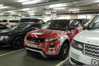 Решил выделить свой автомобиль необычным способом