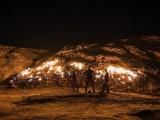 """Удивительная вечно горящая """"огненная гора"""" в Иране"""