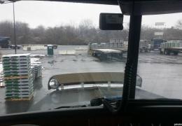 Видимость из окна кабины грузовика