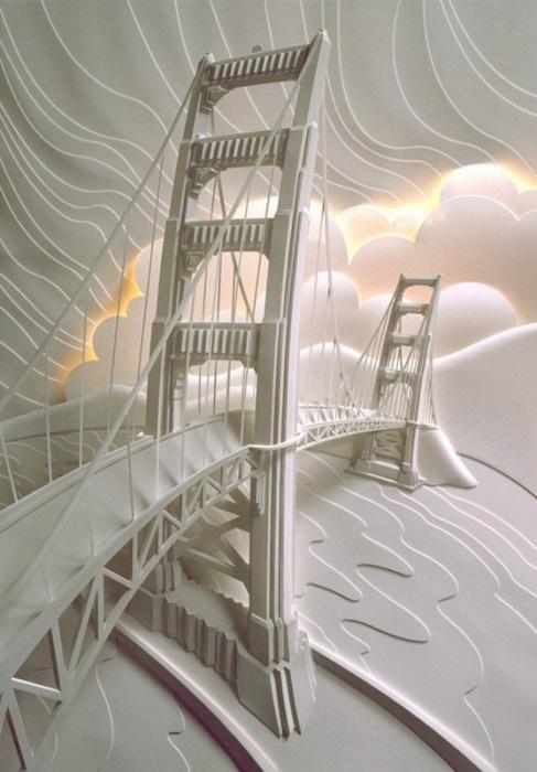 Поразительные скульптуры из бумаги от Джефа Нишинаки
