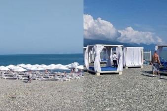 """""""Такого еще у нас не было"""": житель Сочи захватил часть пляжа и сдавал отдыхающим лежаки за деньги"""