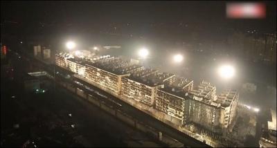 Китайцы за 10 секунд снесли 19 многоэтажных домов