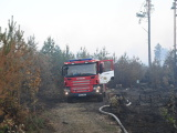Начавшийся в понедельник вечером лесной пожар в Нарва-Йыэсуу до сих пор не потушен