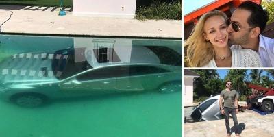 Женщина утопила в бассейне машину бывшего парня после того, как у них закончились отношения