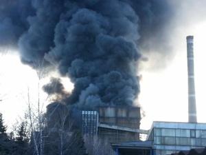 Пожар на теплоэлектростанции в Донецкой области: работа остановлена, один человек погиб