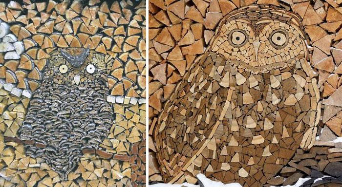 У каждого имеющего печное отопление наверняка возникал вопрос как сложить дрова, да не просто, а красиво, с выдумкой, чтобы было приятно посмотреть.