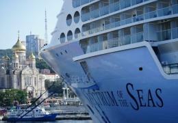 Во Владивосток прибыл самый большой в истории России круизный лайнер