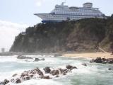 Удивительный корабль на скале
