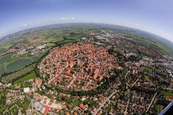 Круглый город в метеоритном кратере