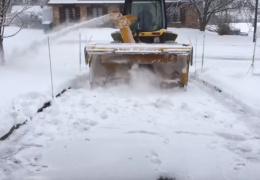 Как в Канаде чистят снег легко и быстро