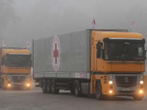 Одиннадцатая гуманитарная автоколонна РФ для Донбасса остановилась в Воронежской области