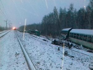 Из-за неисправного вагона эстонской госкомпании Operail в России с рельсов сошел поезд