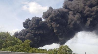 Пожар на свалке в Юрмале