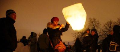 При запуске китайских фонариков нужно быть особенно осторожным