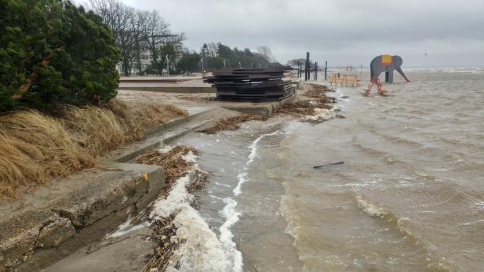 В Пярну уровень воды может подняться до критической отметки