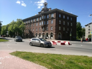 Улица Пушкина в Нарве закрыта на реконструкцию