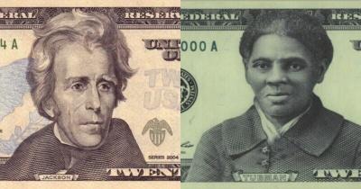 На американской купюре $20 изображение белого президента заменят портретом чернокожей рабыни