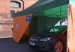 Палатка для сдачи теста на коронавирус открыта и в Нарве