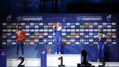 Российские конькобежцы завоевали на чемпионате мира 11 медалей