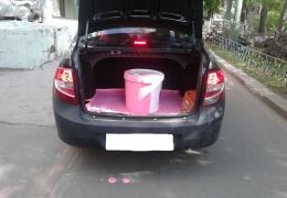 Опасайся крутых поворотов, если перевозишь в багажнике ведро краски