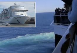 Немка выпала за борт большого круизного лайнера и погибла