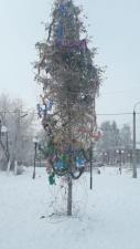 Жители поселка в Татарстане потребовали убрать наряженную к праздникам ёлку