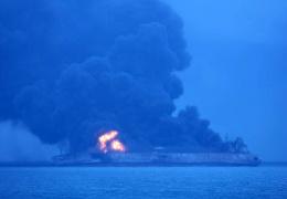 Танкер с иранской нефтью столкнулся с сухогрузом в Восточно-Китайском море