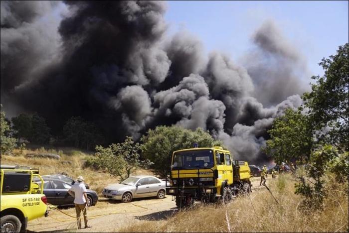 На парковке музыкального фестиваля в Португалии сгорели 422 автомобиля