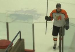 Коварная клюшка помешала эффектному уходу со льда